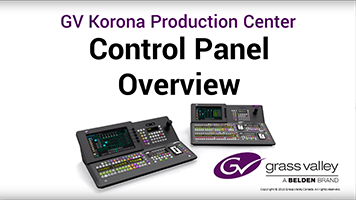 GV Korona Control Panel Overview: