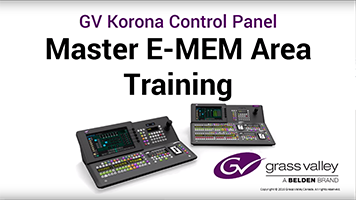 GV Korona Master E-MEM Menu Area Training: