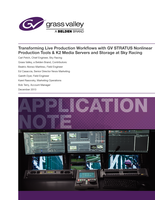 Transforming Live Production Workflows with GV STRATUS Nonlinear Production Tools & K2 Media Servers and Storage at Sky Racing Application Note