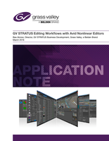 GV STRATUS Editing Workflows with Avid Nonlinear Editors Application Note