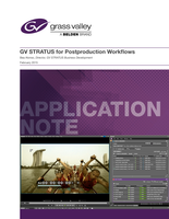 GV STRATUS for Postproduction Workflows Application Note
