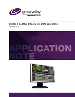 EDIUS & After Effects CC 2014 Workflow Application Note