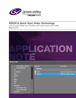 EDIUS & Quick Sync Video Technology Application Note