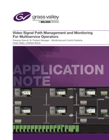 Video Signal Path Management and Monitoring for MSOs Application Note