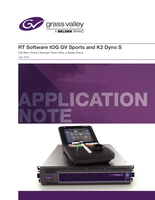 K2 Dyno S Replay System: RT Software tOG GV Sports and K2 Dyno S Application Note