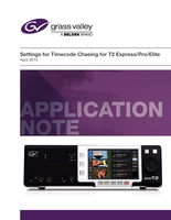 Settings for Timecode Chasing for T2 Express/Pro/Elite Application Note