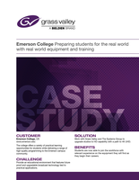 Emerson College: Preparing students for the real world with real world equipment and training  Case Study