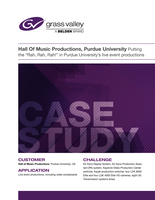 Hall Of Music Productions, Purdue University Case Study