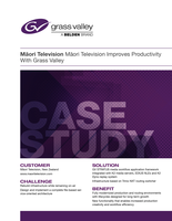 Māori Television Improves Productivity With Grass Valley Case Study