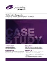 Cablevisión of Argentina: Simplicity of EDIUS Strengthens Workflow Case Study
