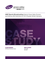 ANO Sports Broadcasting Selects Grass Valley Routers and Kahuna Switchers Case Study