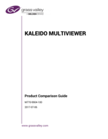 Kaleido Multiviewer Product Comparison Guide v8.62