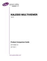 Kaleido Multiviewer Product Comparison Guide v8.70