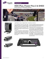 HDX-Plus, Power Plus 2 & SHED: Power Solutions for Broadcast Cameras Datasheet