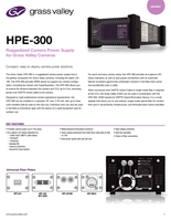 HPE-300: Ruggedized Camera Power Supply for Grass Valley Cameras Datasheet