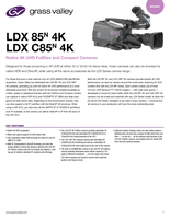 LDX 85<sup>N</sup> 4K & LDX C85<sup>N</sup> 4K: Native 4K UHD FullSize and Compact Cameras Datasheet
