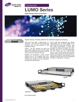 LUMO Series: High Density Fiber Converters Datasheet