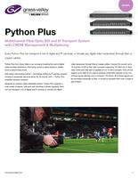 Python Plus: Multichannel Fiber Optic SDI and IP Transport System with CWDM Management & Multiplexing Datasheet