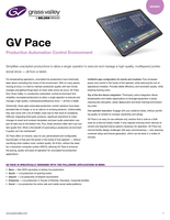 GV Pace: Production Automation Control Environment Datasheet