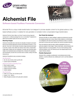 Alchemist File: Software-based Faultless Framerate Conversion Datasheet