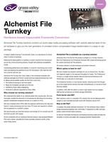 Alchemist File Turnkey: Hardware-based Impeccable Framerate Conversion Datasheet