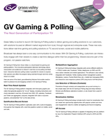 GV Gaming & Polling: The Next Generation of Participation TV Datasheet