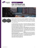 GV STRATUS v6 Video Production & Content Management System Datasheet