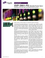 XVP-3901-FS Densité Frame Sync: 3G/HD/SD Frame Sync/ARC with Optional Audio Processor Datasheet
