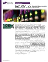 XVP-3901-UC Densité Upconversion: 3G/HD/SD Upconverter with Optional Audio Processor Datasheet