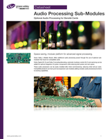 Audio Processing Sub-Modules: Optional Audio Processing for Densité Cards: Datasheet