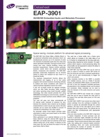 EAP-3901: 3G/HD/SD Embedded Audio and Metadata Processor Datasheet