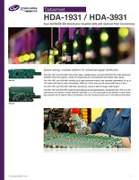 HDA-1931 / HDA-3931: Dual 3G/HD/SD SDI Distribution Amplifier (DA) Datasheet