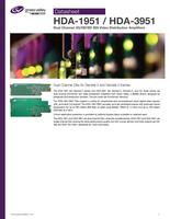 HDA-1951 / HDA-3951: Dual Channel 3G/HD/SD SDI Video Distribution Amplifiers Datasheet