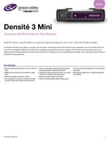 Densité 3 Mini: Compact, Half RU Frame for Two Modules Datasheet