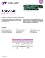 ADX-1842: HD/SD 4 AES De-Embedder Datasheet