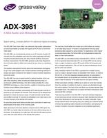 ADX-3981: 8 AES Audio and Metadata De-Embedder Datasheet