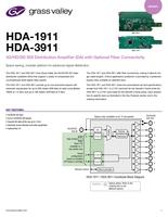 HDA-1911 / HDA-3911: 3G/HD/SD SDI Distribution Amplifier (DA) Datasheet
