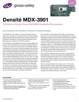 Densité MDX-3901: 12G/3G/HD 16 Audio Channel AES/MADI Embedder/De-embedder Datasheet