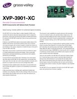 XVP-3901-XC Densité Crossconversion: 3G/HD Crossconverter with Optional Audio Processor Datasheet