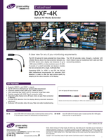 DXF-4K: Optical Extension System DVI and HDMI Datahseet