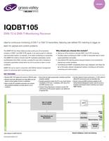 IQDBT105: DVB-T2 & DVB-T Monitoring Receiver Datasheet