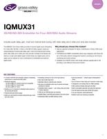 IQMUX31: 3G/HD/SD-SDI Embedder for Four AES/EBU Audio Streams Datasheet