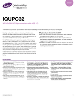 IQUPC32: 3G/HD/SD-SDI Upconverter with AES I/O Datasheet