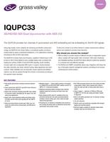 IQUPC33: 3G/HD/SD-SDI Dual Upconverter with AES I/O Datasheet