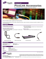 PicoLink Accessories: PicoLink Series Power Supplies and Frame Options Datasheet
