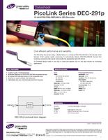 PicoLink Series DEC-291p: 12-bit NTSC/PAL/SECAM to SDI Decoder Datasheet