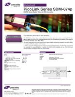 PicoLink Series SDM-874p: HD/SD Serial Digital Video to DVI Converter Datasheet