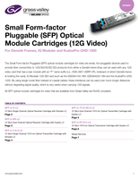 Small Form-factor Pluggable (SFP) Optical Module Cartridges (12G Video): For Densité Frames, IQ Modular and KudosPro UHD-1200 Datasheet