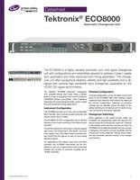 Tektronix<sup>®</sup> ECO8000: Automatic Changeover Unit Datasheet