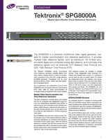 Tektronix<sup>®</sup> SPG8000A: Master Sync/Master Clock Reference Generator Datasheet